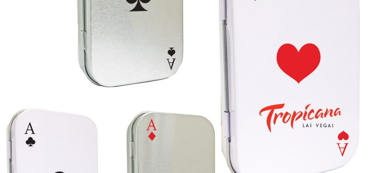 CASINO POKER CARD TIN