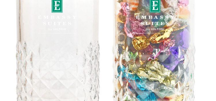 DIAMOND GLASS JAR LARGE 56 OZ
