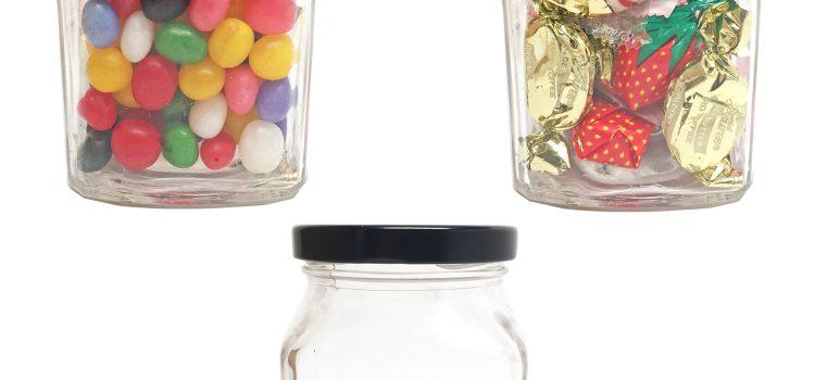 Dorchester Small Square Glass Jar 8 oz