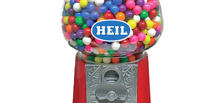 GUMBALL MACHINE RED 11 INCH