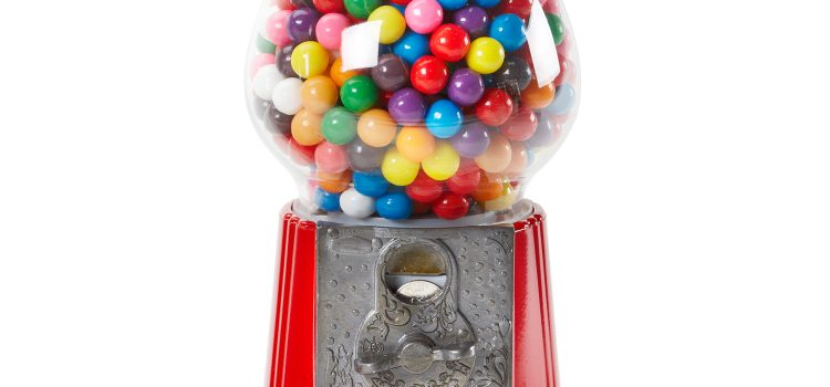 GUMBALL MACHINE RED 9 INCH