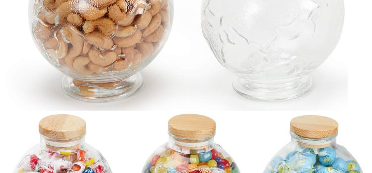 EARTH GLOBE GLASS JAR LARGE 27 oz