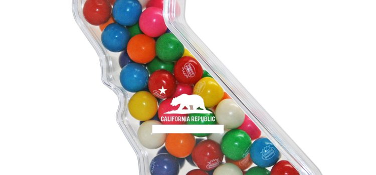 PLASTIC CALIFORNIA SHAPED CONTAINER
